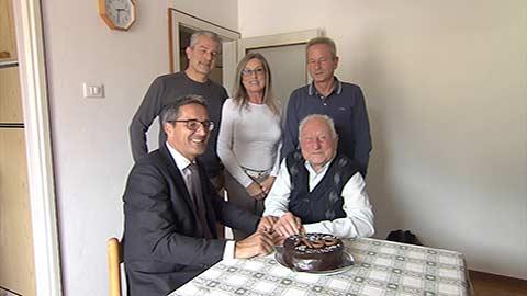 Video: «Bertoldi compie 100 anni, gli auguri di Kompatscher»