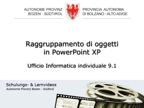 Video: «Raggruppamento di oggetti in PowerPoint XP»