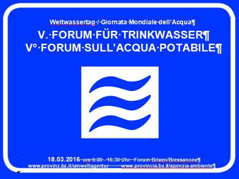 Video: «V° Forum sull'acqua potabile, in occasione della Giornata mondiale dell'acqua 2016. GNews Production»