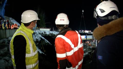 Video: «Neue Einfahrt ins Gadertal: Brücke über die Bahnlinie»