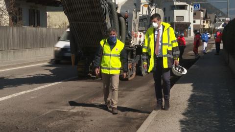 Video: «Straßen: Arbeiten wurden wieder aufgenommen»