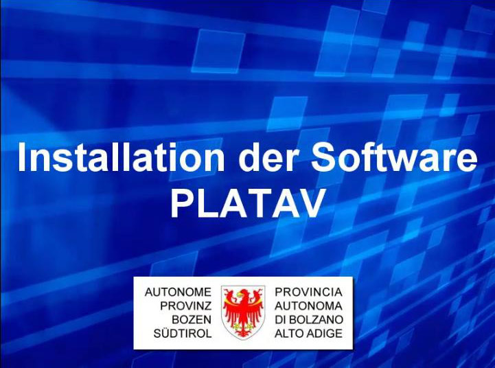 Video: «8 Installation der Software PLATAV»