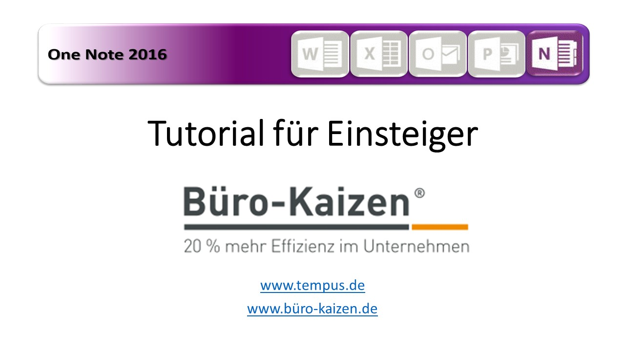 Video: «OneNote - Tutorial für Einsteiger»