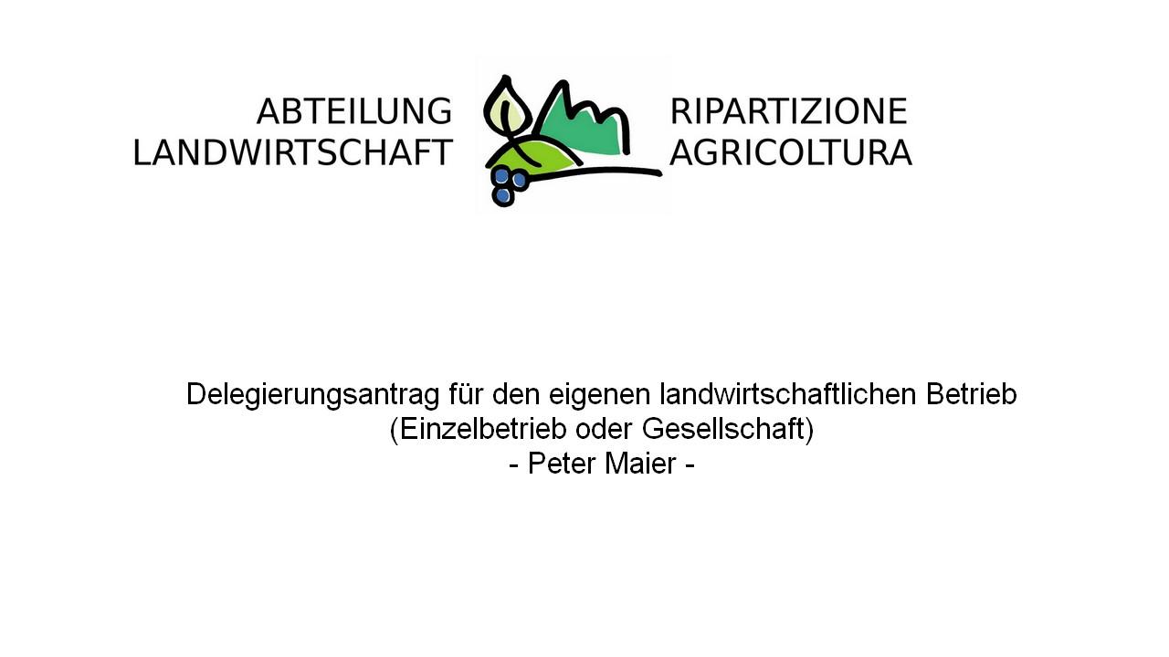 Video: «Delegierungsantrag für den eigenen landwirtschaftlichen Betrieb (Einzelbetrieb oder Gesellschaft)»