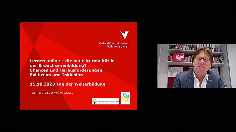Video: «Gerhard Bisovsky, Generalsekretär des Verbands Österreichischer Volkshochschulen»