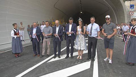 Video: «Aperto il nuovo tunnel sulla strada della val d'Ultimo»