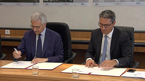 Video: «Zur Zukunft des öffentlichen Nahverkehrs: Abkommen für Verlegung des Busbahnhofs Bozen unterzeichnet»
