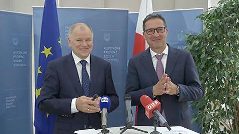 Video: «EU-Lebensmittelpolitik: EU-Kommissar Andriukaitis unterstützt den Vorschlag von Landeshauptmann Kompatscher»