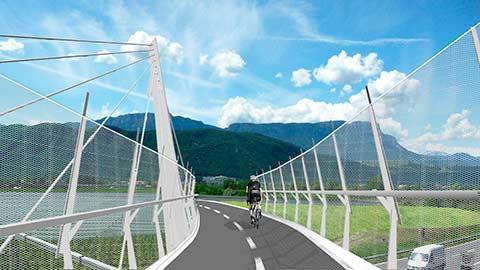 Video: «Die neue Radbrücke zwischen Steinmannwald und Leifers»