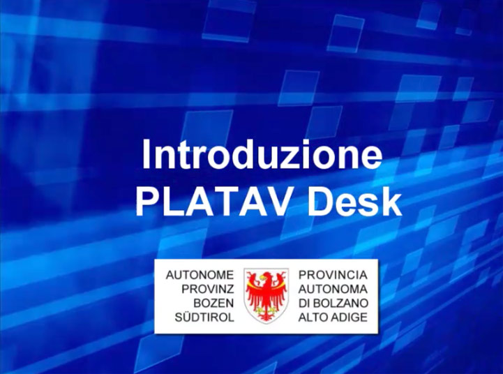 Video: «1 Introduzione PLATAV Desk»