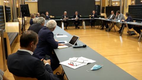 Video: «Treffen mit der Wirtschaft: Zusammen gestärkt aus der Krise»