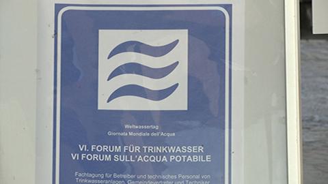 Video: «Weltwassertag: In Südtirol kontinuierliche Überwachung des Trinkwassers»