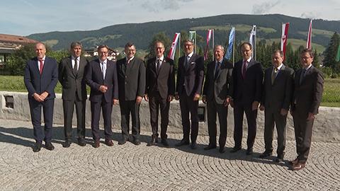 Video: «Presidenza Arge Alp, l'Alto Adige passa il testimone a Salisburgo»