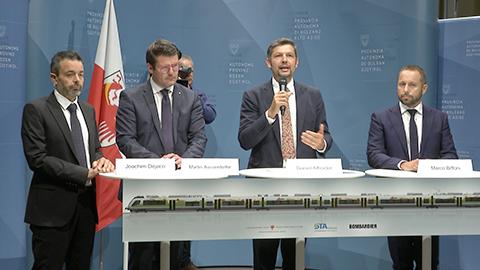 Video: «Sieben neue Züge für Südtirol und die Euregio»