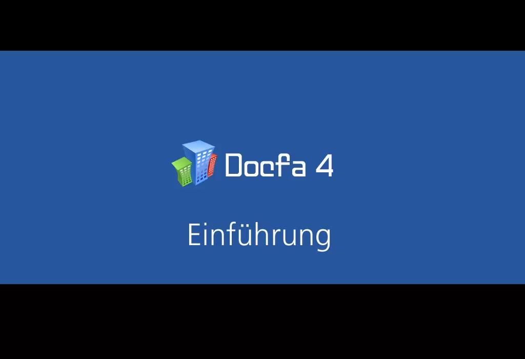 Video: «1 Einführung Docfa 4»