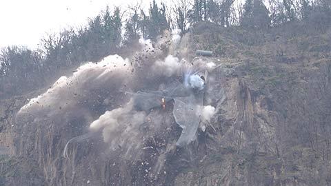 Video: «Virgl: Der Felsen ist gesprengt Arbeiten im Hang abgeschlossen»