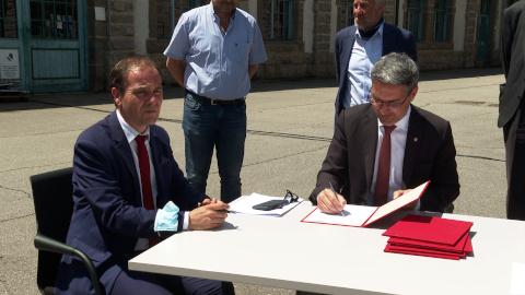 Video: «Erdverlegung von Hochspannungsleitungen im Raum Meran: Unterzeichnung des Abkommens»