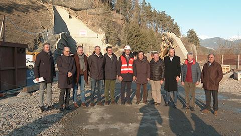 Video: «Neue Einfahrt ins Gadertal:  Erste Sprengung für Tunnelbau»