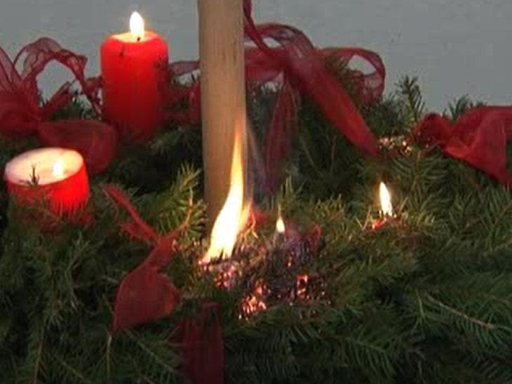 Video: «Verhalten bei Brand eines Adventkranzes»