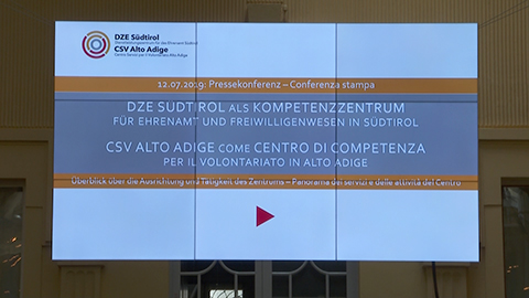 Video: «DZE Südtirol: Für das Ehrenamt und das Freiwilligenwesen»