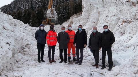 Video: «Sarntal: Dieses Jahr noch eine Ausschreibung für den Bau der Lawinenschutzgalerie»