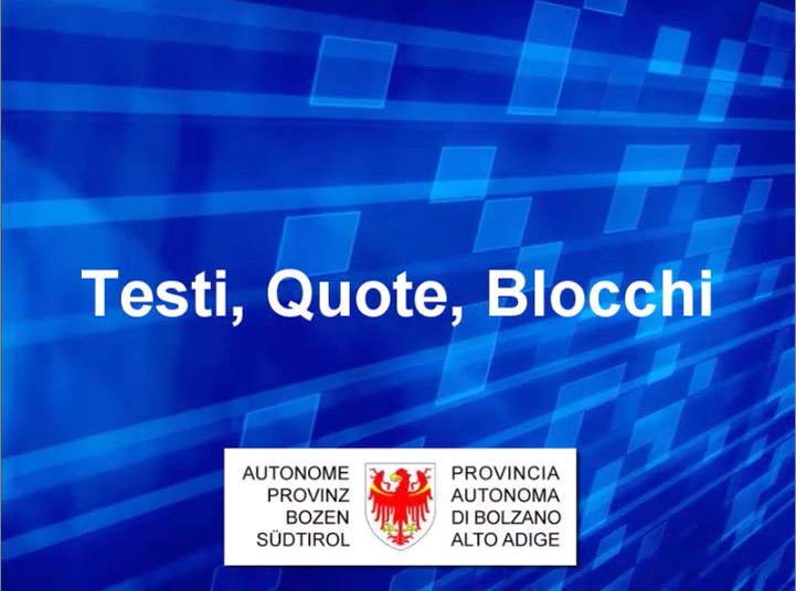 Video: «4 Testi, quote, blocchi»