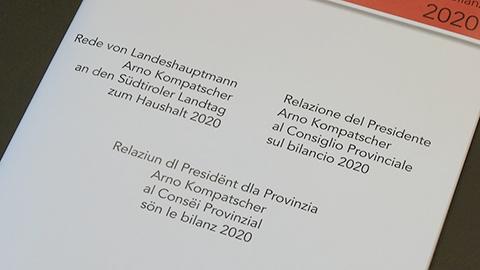 Video: «Kompatscher illustra il bilancio: sostenibilità e convivenza al centro»