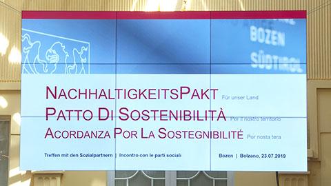 Video: «Patto di sostenibilità, confronto con le parti sociali»