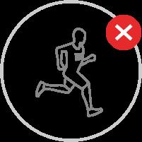 Sporttätigkeit in Sportzentren und Schwimmbädern | Achtung Verbote